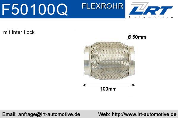 Tuyau flexible, échappement LRT F50100Q (X1)