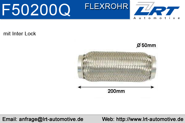 Tuyau flexible, échappement LRT F50200Q (X1)