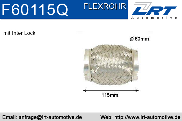 Tuyau flexible, échappement LRT F60115Q (X1)