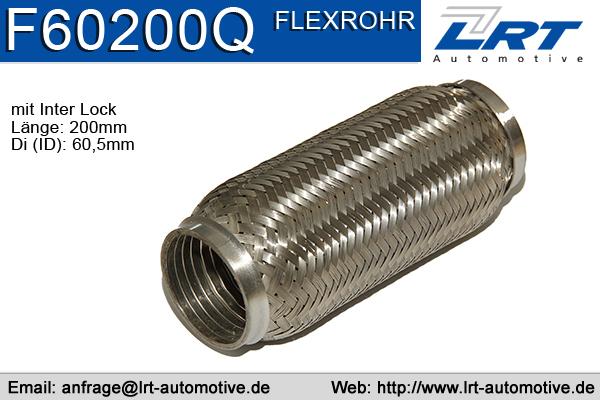 Tuyau flexible, échappement LRT F60200Q (X1)