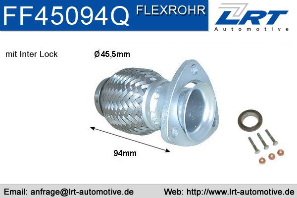 Tuyau flexible, échappement LRT FF45094Q (X1)