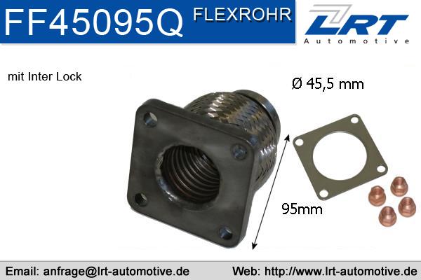 Tuyau flexible, échappement LRT FF45095Q (X1)