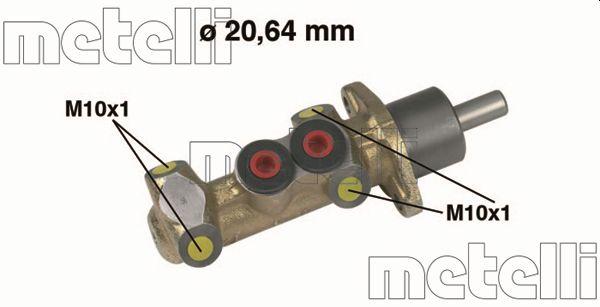 Maitre-cylindre METELLI 05-0044 (X1)