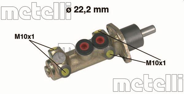 Maitre-cylindre METELLI 05-0208 (X1)