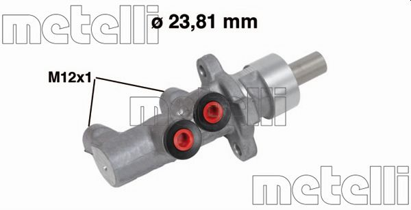 Maitre-cylindre METELLI 05-0751 (X1)