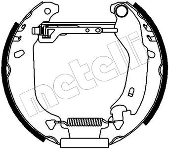 kit de frein arrière simple ou prémonté METELLI 51-0024 (X1)