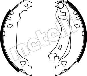 kit de frein arrière simple ou prémonté METELLI 53-0066 (Jeu de 4)