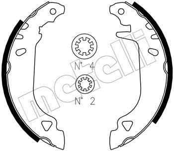 kit de frein arrière simple ou prémonté METELLI 53-0066J (Jeu de 4)