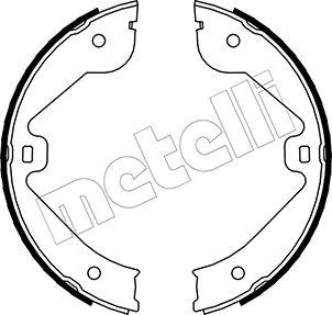Jeu de mâchoires de frein de frein à main METELLI 53-0244 (Jeu de 4)