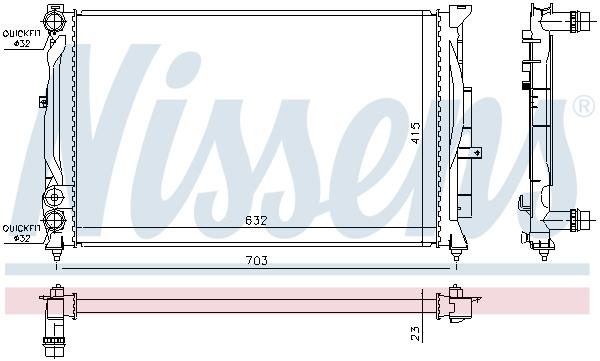 Radiateur de refroidissement NISSENS 60308A (X1)