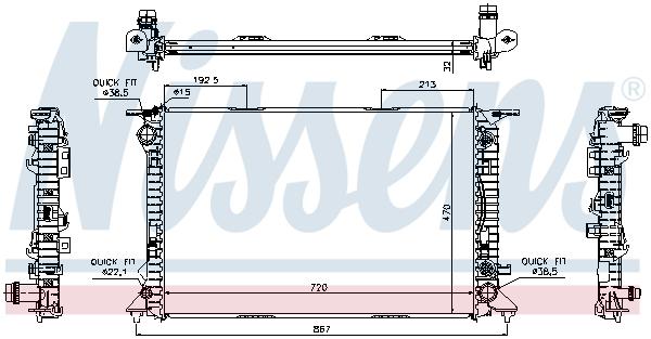 Radiateur de refroidissement NISSENS 60318 (X1)