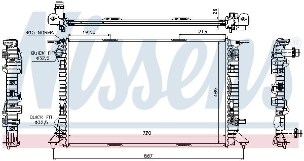 Radiateur de refroidissement NISSENS 60321 (X1)