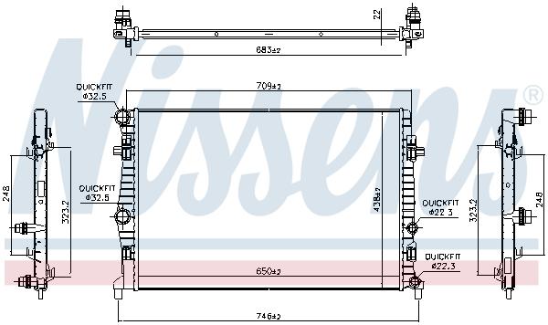 Radiateur de refroidissement NISSENS 606218 (X1)