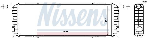 Radiateur de refroidissement NISSENS 606434 (X1)