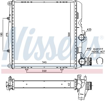 Radiateur de refroidissement NISSENS 606448 (X1)