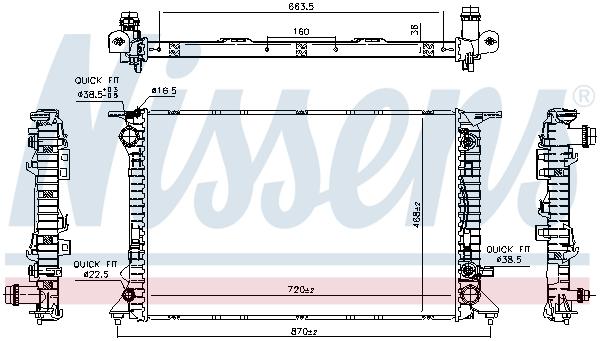 Radiateur de refroidissement NISSENS 606466 (X1)