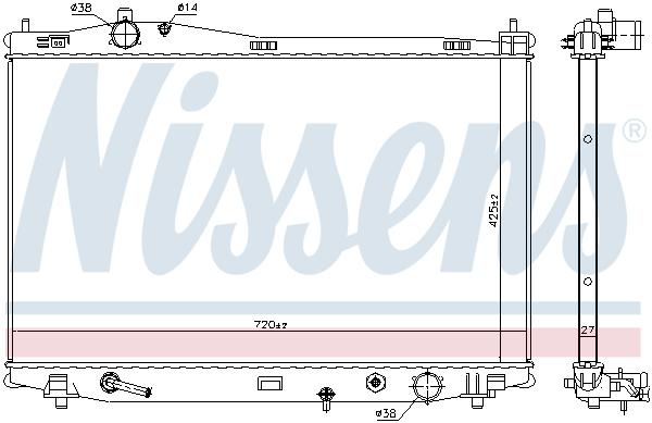Radiateur de refroidissement NISSENS 606526 (X1)