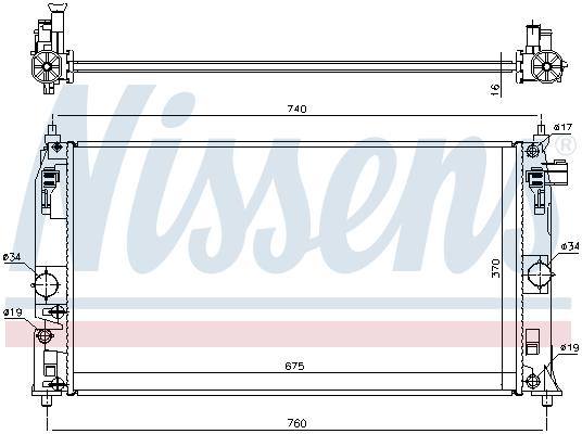Radiateur de refroidissement NISSENS 606543 (X1)