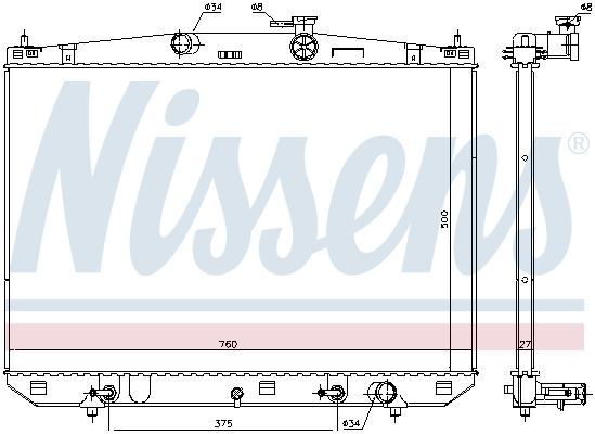 Radiateur de refroidissement NISSENS 606544 (X1)