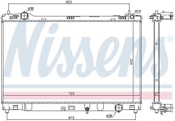 Radiateur de refroidissement NISSENS 606546 (X1)