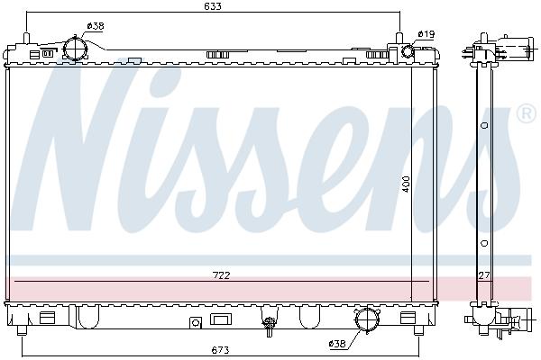 Radiateur de refroidissement NISSENS 606547 (X1)