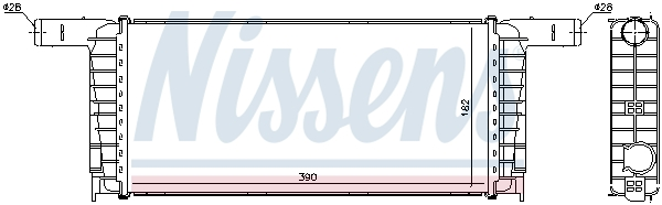 Radiateur de refroidissement NISSENS 606695 (X1)