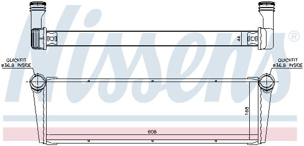 Radiateur de refroidissement NISSENS 606703 (X1)