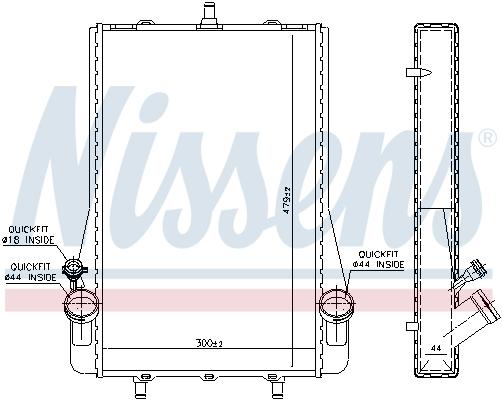 Radiateur de refroidissement NISSENS 63623 (X1)