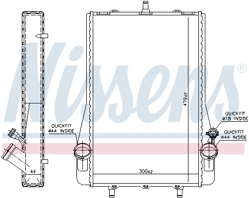 Radiateur de refroidissement NISSENS 63624 (X1)