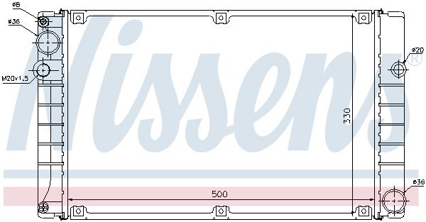 Radiateur de refroidissement NISSENS 63750 (X1)