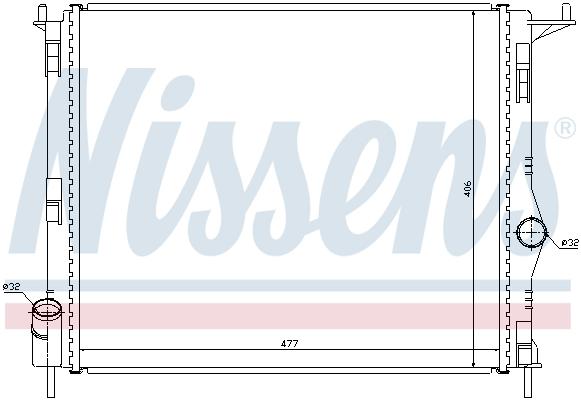 Radiateur de refroidissement NISSENS 637609 (X1)