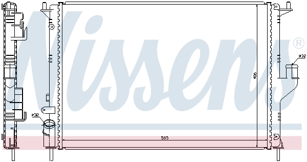 Radiateur de refroidissement NISSENS 637612 (X1)