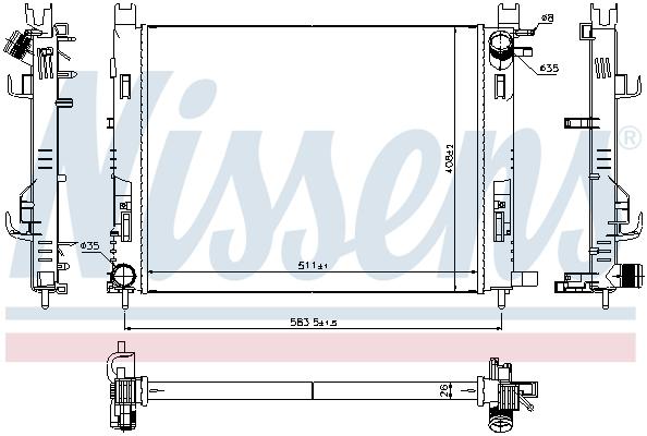 Radiateur de refroidissement NISSENS 637624 (X1)