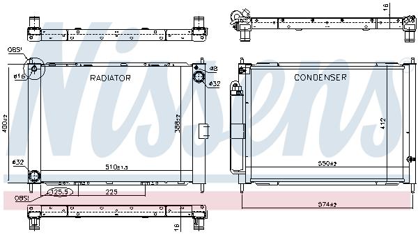 Module de refroidissement NISSENS 637625 (X1)