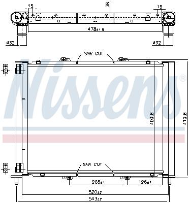Module de refroidissement NISSENS 637626 (X1)
