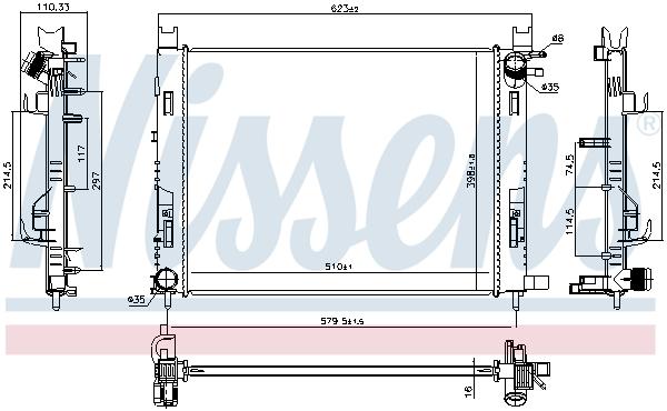 Radiateur de refroidissement NISSENS 637627 (X1)