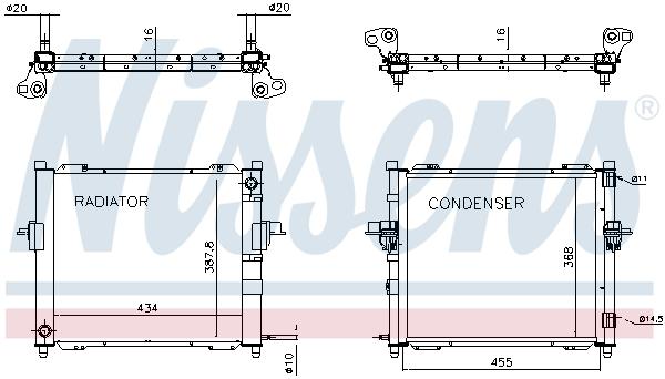 Module de refroidissement NISSENS 637635 (X1)