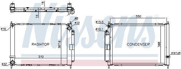 Module de refroidissement NISSENS 637636 (X1)