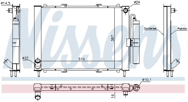 Module de refroidissement NISSENS 637637 (X1)