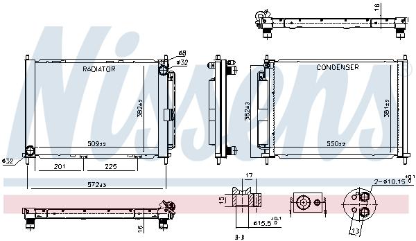 Module de refroidissement NISSENS 637654 (X1)
