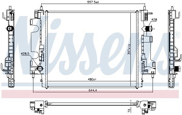 Radiateur de refroidissement NISSENS 637659 (X1)