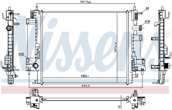 Radiateur de refroidissement NISSENS 637662 (X1)
