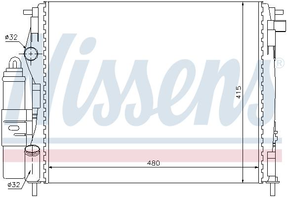 Module de refroidissement NISSENS 63773 (X1)