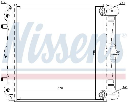 Radiateur de refroidissement NISSENS 63776 (X1)