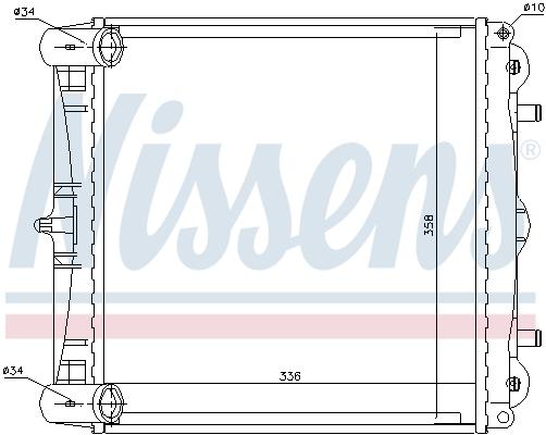 Radiateur de refroidissement NISSENS 63777 (X1)