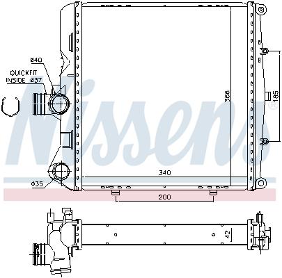 Radiateur de refroidissement NISSENS 637774 (X1)
