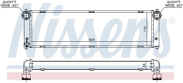 Radiateur de refroidissement NISSENS 637775 (X1)