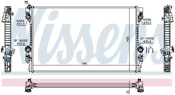 Radiateur de refroidissement NISSENS 63779 (X1)