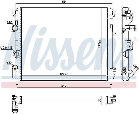 Radiateur de refroidissement NISSENS 637931 (X1)