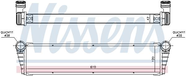 Radiateur de refroidissement NISSENS 63798 (X1)